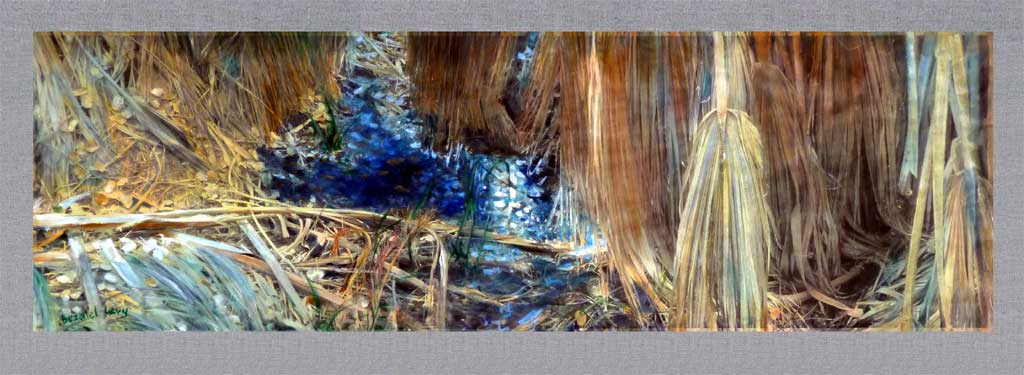 """Oasis"""" mixedmedia with acrylics and photography on rice ..."""